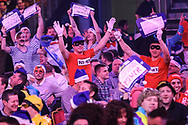 Dart fans during the World Darts Championships 2018 at Alexandra Palace, London, United Kingdom on 27 December 2018.