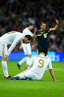 20120107: MADRID, SPAIN - BBVA League: Football macht between Real Madrid C.F vs Granada in Santiago Bernabeu, Madrid, Spain.<br /> In photo: Karim Benzema(R).<br /> PHOTO: CITYFILES