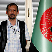 Special For LO-Tidningen.<br /> Textile, Knitting and Clothing Workers' Union of Turkey Research Coordinator Engin Sedat Kaya of the TEKSIF , in Istanbul Turkey on Thursday 16 June 2011. Photo by TURKPIX