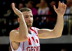 Manuchar Markoishvili of Georgia during basketball match between National teams of Georgia and Russia in Group D of Preliminary Round of Eurobasket Lithuania 2011, on September 1, 2011, in Arena Svyturio, Klaipeda, Lithuania. (Photo by Vid Ponikvar / Sportida)