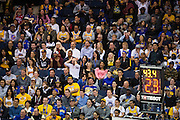 Fans react to game play between the Golden State Warriors and the Los Angeles Lakers at Oracle Arena in Oakland, Calif., on November 23, 2016. (Stan Olszewski/Special to S.F. Examiner)