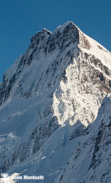 East ridge & face of Mts Sefton above Tuckett col, aerial view, Aoraki/ Mount Cook National Park.