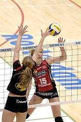 04-03-2006 VOLLEYBAL: FINAL 4 DAMES: AMVJ - PLANTINA LONGA: ROTTERDAM<br /> Longa was veel te sterk voor de dames uit Amestelveen (3-0) / Elles Leferink<br /> Copyrights 2006 WWW.FOTOHOOGENDOORN.NL