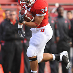 Oct 10, 2009; Piscataway, NJ, USA; Rutgers running back Joe Martinek (38) runs for his second touchdown of the game during first half NCAA college football action between Rutgers and Texas Southern at Rutgers Stadium.