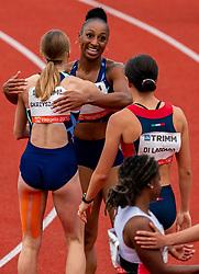 Jasmine Camacho Quinn in action on the 100 meter hurdle during FBK Games 2021 on 06 june 2021 in Hengelo.