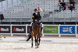 Katja Karjalainen, (FIN), Woikoski Double U - Freestyle Grade Ib Para Dressage - Alltech FEI World Equestrian Games™ 2014 - Normandy, France.<br /> © Hippo Foto Team - Leanjo de Koster<br /> 25/06/14
