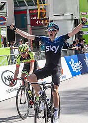 22.04.2019, Kufstein, AUT, Tour of the Alps, 1. Etappe, Kufstein - Kufstein, 144km, im Bild // Tao Geoghegan Hart (GBR, Team Sky) Stage Winner during the 1st Stage of the Tour of the Alps Cyling Race from Kufstein to Kufstein (144km) in in Kufstein, Austria on 2019/04/22. EXPA Pictures © 2019, PhotoCredit: EXPA/ Reinhard Eisenbauer