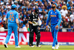 Virat Kohli of India cuts a frustrated figure after missing a chance to run out Kane Williamson of New Zealand - Mandatory by-line: Robbie Stephenson/JMP - 09/07/2019 - CRICKET - Old Trafford - Manchester, England - India v New Zealand - ICC Cricket World Cup 2019 - Semi Final