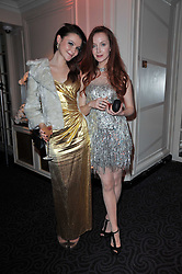Left to right, AMBER ATHERTON and OLIVIA GRANT at Quintessentially's 10th birthday party held at The Savoy Hotel, London on 13th December 2010.