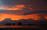 Hongs at sunset, Phang Nga Bay/Andaman Sea, Thailand.