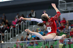 05-04-2015 SLO: World Challenge Cup Gymnastics, Ljubljana<br /> Isabela Maria Onyshko of Canada in Balance Beam during Final of Artistic Gymnastics World Challenge Cup Ljubljana, on April 5, 2015 in Arena Stozice, Ljubljana, Slovenia.<br /> Photo by Morgan Kristan / RHF Agency