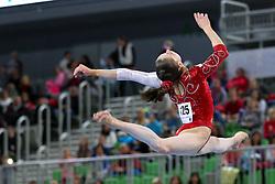 05-04-2015 SLO: World Challenge Cup Gymnastics, Ljubljana<br /> Isabela Maria Onyshko of Canada in Balance Beam during Final of Artistic Gymnastics World Challenge Cup Ljubljana, on April 5, 2015 in Arena Stozice, Ljubljana, Slovenia.<br /> Photo by Morgan Kristan / RHF Agency