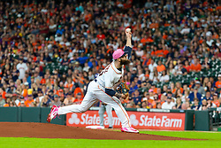 May 13, 2018 - Houston, TX, U.S. - HOUSTON, TX - MAY 13: Houston Astros starting pitcher Dallas Keuchel (60) delivers the pitch in the first inning during an MLB baseball game between the Houston Astros and the Texas Rangers, Sunday, May 13, 2018 in Houston, Texas. Houston Astros defeated Texas Rangers 6-1. (Photo by: Juan DeLeon/Icon Sportswire) (Credit Image: © Juan Deleon/Icon SMI via ZUMA Press)