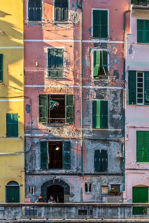Early morning, Vernazza, Italy.