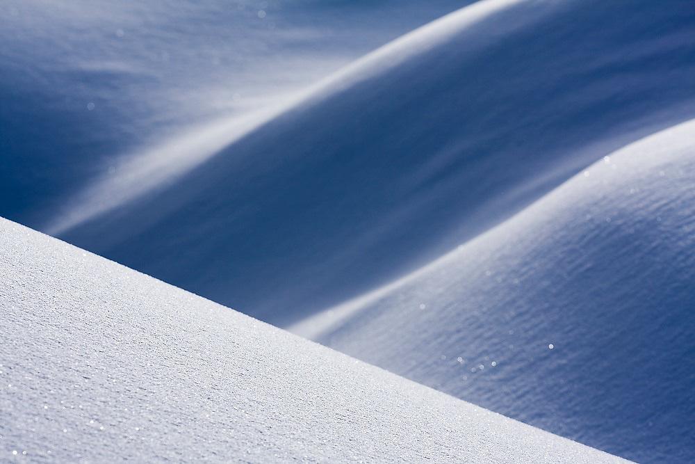 Snow abstract in Garibaldi Provincial Park, British Columbia, Canada.