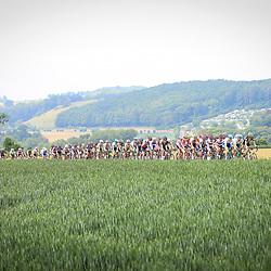 27-05-2016: Wielrennen: Boels Rental Classic: Valkenburg  <br />VALKENBURG (NED) wielrennen<br />Peloton bovenaan de Koning van Spanje tijdens de Hills Classic