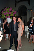 VICTORIA BECKHAM; SIMON FULLER, Alexandra Shulman, Editor of Vogue & Phil Popham, Managing Director of Land Rover<br /> host the 40th Anniversary of Range Rover. The Orangery at Kensington Palace. London. 1 July 2010. -DO NOT ARCHIVE-© Copyright Photograph by Dafydd Jones. 248 Clapham Rd. London SW9 0PZ. Tel 0207 820 0771. www.dafjones.com.