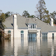 NEW ORLEANS, LA - September 4, 2005:  A flooded home on Sept, 4, 2005 in New Orleans following the destruction caused by Hurricane Katrina. The home is in Jefferson Parish in New Orleans. (Photo by Todd Bigelow/Aurora)