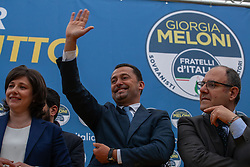 May 4, 2019 - Palermo, Italy - Francesco Scarpinato, during the electoral meeting of Fratelli d'Italia in Palermo. (Credit Image: © Antonio Melita/Pacific Press via ZUMA Wire)