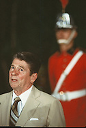 President Ronald Reagan makes his first out of the USA trip as president to Canada on March 10, 1981