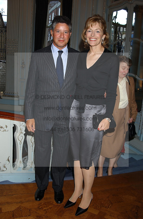 Writer FLORA FRASER and her husband PETER SOROS at a party to celebrate the publication of 'Princesses' the six daughters of George 111 by Flora Fraser held at the Saville Club, Brook Street, London W1 on 14th September 2004.<br />