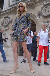 Nicky Rotschild Hilton arriving at the Schiaparelli show during Haute Couture Paris Fashion Week Fall/Winter 2018/19 held at National Archives in Paris, France on July 02, 2018. Photo by Julien Reynaud/APS-Medias/ABACAPRESS.COM