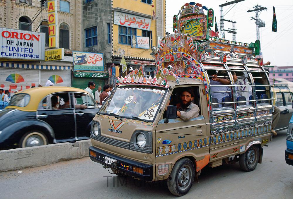 Decorated bus, Islamabad, Pakistan