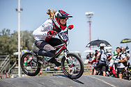 #115 (CLAESSENS Zoe) SUI at round 8 of the 2018 UCI BMX Supercross World Cup in Santiago del Estero, Argentina.