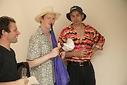 JASON GIBILARO, CALUM F.KERR AND JASON MOUNTOLIVE, Gimpel Fils 60th Anniversary Exhibition. Davies St. London. 27 July 2006. ONE TIME USE ONLY - DO NOT ARCHIVE  © Copyright Photograph by Dafydd Jones 66 Stockwell Park Rd. London SW9 0DA Tel 020 7733 0108 www.dafjones.com