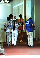Friidrett<br /> OL 2008 Beijing<br /> 18.08.2008<br /> Foto: IMAGO/Digitalsport<br /> NORWAY ONLY<br /> <br /> Liu Xiang (China) - Abgang<br /> <br /> BILDET INNGÅR IKKE I FASTAVTALER