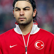 Turkey's Selcuk INAN during their UEFA EURO 2012 Qualifying round Group A soccer match Turkey between Austria at Sukru Saracoglu stadium in Istanbul March 29, 2011. Photo by TURKPIX
