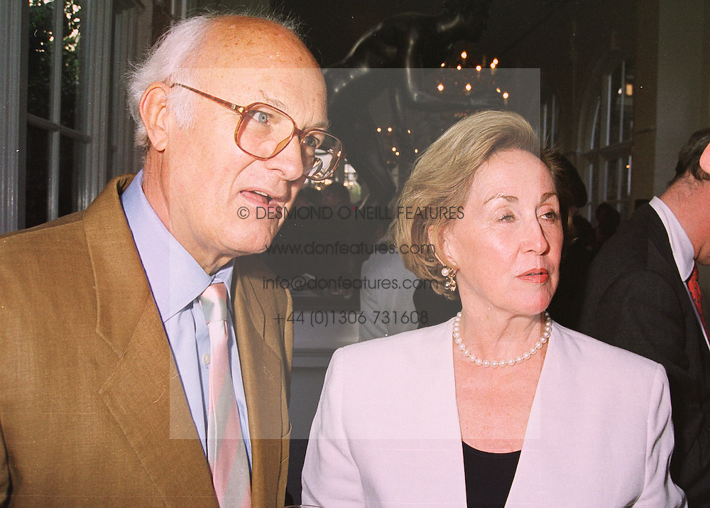 MR & MRS PETER YATES, he is the film director, at a party in London on 18th May 1998.MHP 58 2olo