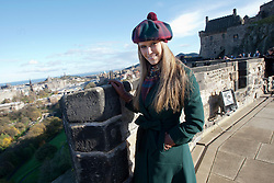 Miss World Alexandria Mills..The Miss World participants visit Edinburgh Castle and will witness the firing of the One O'clock gun..MISS WORLD 2011 VISITS SCOTLAND..Pic © Michael Schofield.