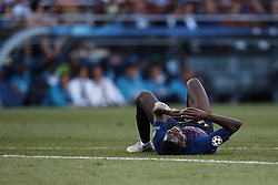 September 18, 2018 - Barcelona, Barcelona, Spain - Ousmane Dembele of FC Barcelona lays down on the pitch during the UEFA Champions League group B match between FC Barcelona and PSV Eindhoven at Camp Nou on September 18, 2018 in Barcelona, Spain  (Credit Image: © David Aliaga/NurPhoto/ZUMA Press)