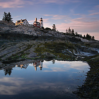 Pemaquid Point Light - Lighthouse photography fine art prints are available as museum quality photography prints, canvas prints, acrylic prints or metal prints. Prints may be framed and matted to the individual liking and room decor needs:<br /> <br /> http://juergen-roth.artistwebsites.com/featured/pemaquid-point-light-juergen-roth.html<br /> <br /> Upon arrival at Pemaquid Point Light  and Pemaquid Neck in Maine, I initially explored various composition of the lighthouse but settled on this initial composition because of the attractive foreground while awaiting a beautiful sunset. A neutral density filter enabled longer exposure times while a split neutral density filter managed the high contrast between the dark foreground and bright sky. The long exposure photography image enabled me to convey some sort of movement in the evening pink clouds and the incoming waves.   <br /> <br /> The Pemaquid Point Light is a historic Unites States lighthouse that is located in Bristol, Lincoln County, Maine, at the tip of the Pemaquid Neck. The Pemaquid Point  lighthouse rises above the crashing surf of the Atlantic Ocean and the spectacular rock formations. It is a cultural and historical treasure and the famous New England lighthouse was added to the National Register of Historic Places as Pemaquid Point Light on 16th of April in 1985.<br /> <br /> Good light and happy photo making!<br /> <br /> My best,<br /> <br /> Juergen<br /> www.RothGalleries.com<br /> www.ExploringTheLight.com<br /> http://whereintheworldisjuergen.blogspot.com<br /> @NatureFineArt<br /> https://www.facebook.com/naturefineart