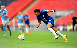 Sam Kerr of Chelsea Women in action- Mandatory by-line: Nizaam Jones/JMP - 29/08/2020 - FOOTBALL - Wembley Stadium - London, England - Chelsea v Manchester City - FA Women's Community Shield
