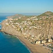Aerial view of Solmar beach. Cabo San Lucas, BCS. Mexico.