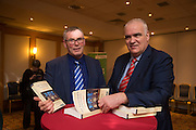NO FEE PICTURES<br /> 20/1/16  Noel Whelan Senator Pat O'Neill at the launch of his book, The Tallyman's Campaign Handbook at the Alexander Hotel in Dublin. Picture: Arthur Carron