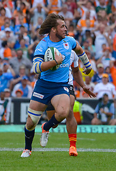 Burger Odendaal of the Blue Bulls during the Currie Cup Final between the The Free State Cheetahs and Blue Bulls held at Toyota Stadium (Free State Stadium), Bloemfontein, South Africa on the 22nd October 2016<br /> <br /> Photo by:   Frikkie Kapp / Real Time Images