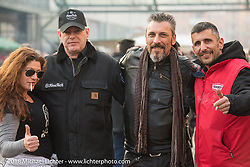 Hanging outside during Motor Bike Expo. Verona, Italy. January 23, 2016.  Photography ©2016 Michael Lichter.