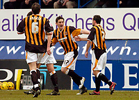 Photo: Leigh Quinnell.<br /> Luton Town v Hull City. Coca Cola Championship. 04/02/2006. Hulls Keith Andrews congratulates Stuart Elliott(R) after his goal.