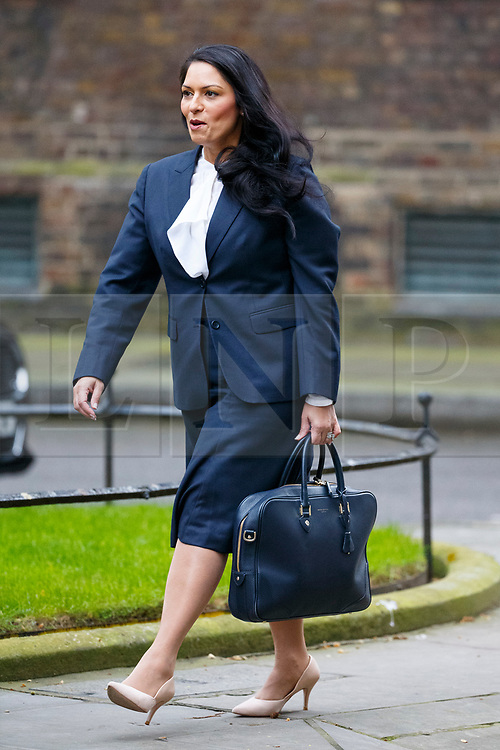 © Licensed to London News Pictures. 29/03/2017. London, UK. International Development Secretary PRITI PATEL attends a cabinet meeting in Downing Street, London on Wednesday, 29 March 2017 as Prime Minister Theresa May triggers article 50 and starts Britain's departure from the European Union. Photo credit: Tolga Akmen/LNP