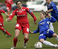 Fotball<br /> La Manga - Spania<br /> 30.03.2009<br /> Team Strømmen v Kolbotn 2-2<br /> Foto: Morten Olsen, Digitalsport<br /> <br /> Rhian Wilkinson - TS<br /> Nora Holstad Berge - KOL