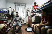 Radu Esanu in 2006 when he was 28 and a student at Iasi university. He is pictured in the dormitory he shares with three other students. Radu was studying agronomy