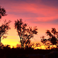 Sunset at Bungle Bungle Caravan Park