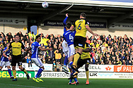Burton Albion defender Ben Turner (6) scores a goal to make the score 1-0 during the EFL Sky Bet Championship match between Burton Albion and Ipswich Town at the Pirelli Stadium, Burton upon Trent, England on 28 October 2017. Photo by Richard Holmes.