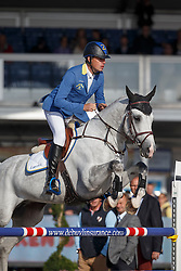 Ahlmann Christian, (GER), Cornwell <br /> 5 years of age<br /> FEI World Breeding Jumping Championships<br /> Lanaken 2015<br /> © Hippo Foto - Dirk Caremans<br /> 20/09/15