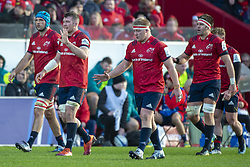 December 9, 2018 - Limerick, Ireland - Tadhg Beirne, Peter O'Mahony , John Ryan and Billy Holland of Munster during the Heineken Champions Cup Round 3 match between Munster Rugby and Castres Qlympique at Thomond Park Stadium in Limerick, Ireland on December 9, 2018  (Credit Image: © Andrew Surma/NurPhoto via ZUMA Press)