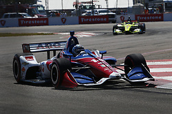 March 11, 2018 - St. Petersburg, Florida, United States of America - March 11, 2018 - St. Petersburg, Florida, USA: Tony Kanaan (14) battles for position during the Firestone Grand Prix of St. Petersburg at Streets of St. Petersburg in St. Petersburg, Florida. (Credit Image: © Justin R. Noe Asp Inc/ASP via ZUMA Wire)