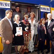 Persconferentie Joop van den Ende ivm start samenwerking met de NS, cast Mamma Mia en Lion King.Nederlandse Spoorwegen,